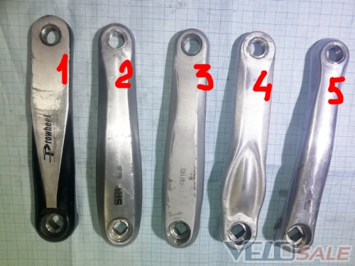 Шатун левый б.у Shimano Prowheel серебристые 170   - Чернігів - 50 грн.