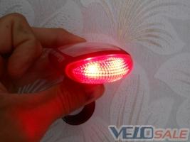Фонарь задній 2 LED на велос. на сол. бат. + подар
