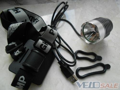 Велофара XM-L T6 3 режими без акум.