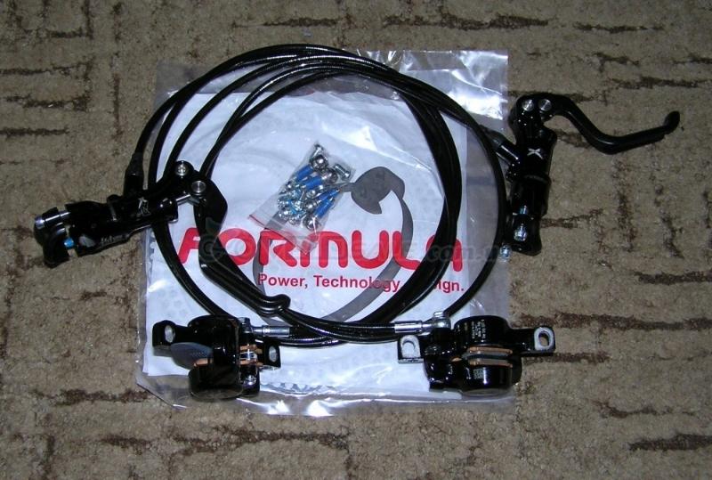 Продам тормоза Formula RX, перед-зад, новые, комплект, ротора 160-180 мм.