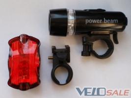 Продам Комплект: велофара и мигалка задняя, новое - Киев - Новый освещение для велосипеда 130 грн.