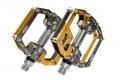 Педали ROCKBROS, желтые-серые, стильные, мощные, сменные шипы