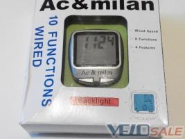 Продам Велокомпьютер, спидометр с подсветкой, Ac & milan - Харьков - Новый компьютер для велосипеда 200 грн.