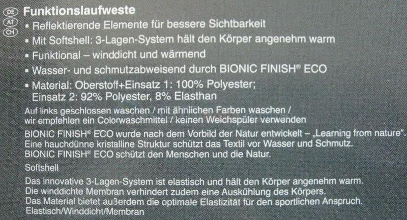 Классная софтшел жилетка Crivit, Германия L