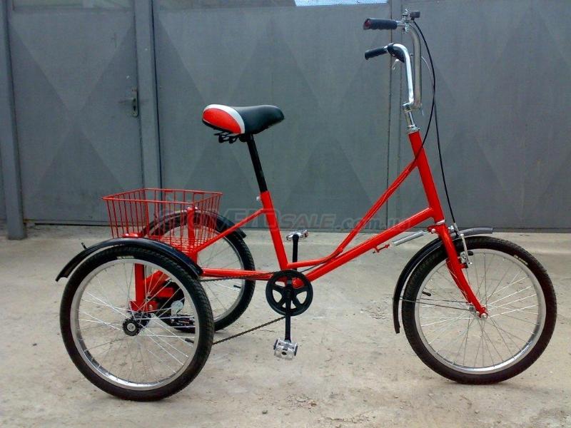 Велосипед трёхколёсный грузовой для взрослых