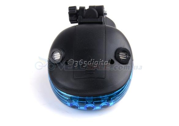 """LED подсветка синяя """"Киборг"""" велосипедная+2 лазера сопровождения"""