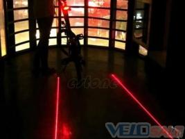 Лазер-фонарь задний велосипедный 5 LED