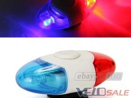 LED мигалка/подсветка милиция детская велосипед